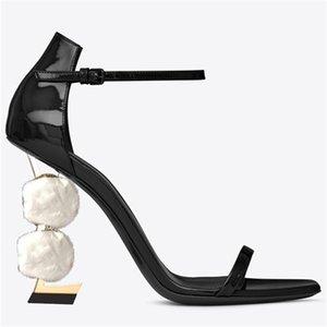 Exquisite alphabet heel high heels sandals slippers latest brand flat sandals slippers Banquet Party wedding women shoes fisherman 9122ss