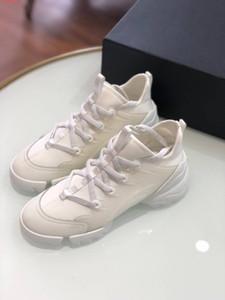 2019 mujeres del diseñador de moda de lujo de neopreno grosgrain cinta D-Connect zapatillas de deporte Señora Envolvente de la suela de goma de los zapatos ocasionales planos