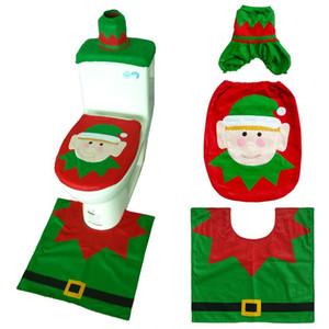 Noel Baba Kumaş Klozet Kapak Tuvalet Ayak Pedi Kapak Radyatör Kapak Kapak Noel Banyo Süslemeleri HWC396