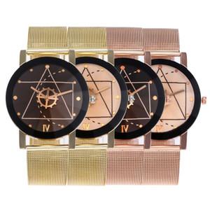 Aplustrade Nouveau Mode Gear Dial Mesh Band Watch Hommes Montres Femmes Acier Inoxydable Montre Hommes Gear Femmes Montres Horloge