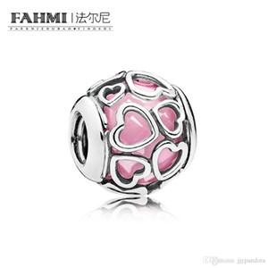 FAHMI 100% Argent 925 1: 1 Original 792036PCZ Tempérament authentique Mode Rétro Glamour Perle de mariage Femmes Bijoux