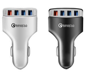 QC3.0 자동차 충전기 어댑터 4USB 포트는 빠른 삼성 화웨이 핸드폰에 대한 5V7A 전원 어댑터 자동차 휴대용 충전 포트 충전