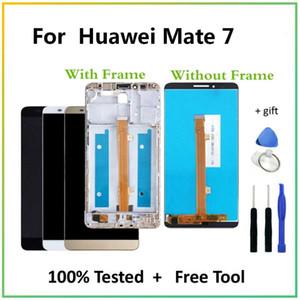 """6.0 """" ЖК-дисплей для Huawei Mate 7 ЖК-дисплеев сенсорный экран Digitizer замена сборки + инструменты для Mate7 MT7-L09 MT7-CL00"""