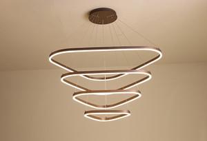 Lustre circulaire moderne concise créative atmosphère personnalisée circulaire salle à manger bureau chambre à coucher salle à manger salon Lustre LF