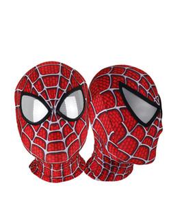 3D Baskılı Raimi Spiderman Maskeleri Cadılar Bayramı Partisi Cosplay Spiderman Kostümleri Likra Spiderman Maske Süper Kahraman ...
