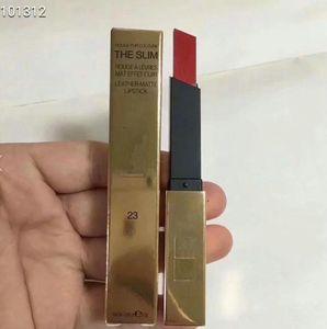 ENVÍO GRATIS Nueva marca de la llegada el lápiz de labios de cuero delgado color de labios tamaño completo maquillaje LIPSTICK 12pcs / lot