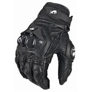 Мужская кожа Furygan АФС 6 Мотоцикл перчатки Черный Мото Спортивные перчатки Велосипед Велоспорт Мотоцикл езда перчатки Женщины