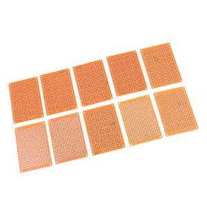 PCB مجلس DIY نموذج ورقة PCB مصفوفة اللوحات الإلكترونية المطبوعة العالمي اللوح 5x7cm (حزمة من 10)