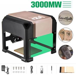 3000mW USB Masaüstü Lazer Engraver Makinesi DIY Logolar Mark Yazıcı Kesici CNC Lazer Makinesi 80x80mm Gravür Aralıkları Oyma