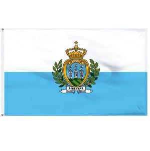 Bandeira de San Marino 90X150CM alta qualidade Europeia SMR Country Flags 3x5ft Bandeira Nacional Bandeira Indoor uso ao ar livre, frete grátis