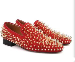 Mens rote Sohle Schuhe Oxfords Luxus Gentleman-rote Unterseite Dandelion Pik Pik Spikes Loafers Mann-beiläufige Partei, Kleid Beleg auf EU38-46