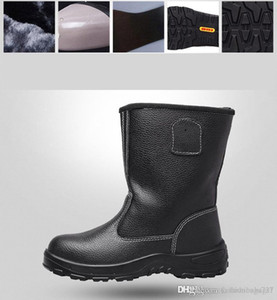 Men Safety Work Shoes Steel Toe Boots Indestructible Anti-smashing Puncture Proof Durable Booties Outdoor Fur Boots Martin Boot 7