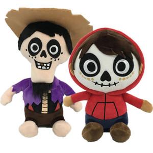 1pcs 20cm Coco Boy Hector 25cm Death Miguel Stuffed Toy Plush Doll Set New