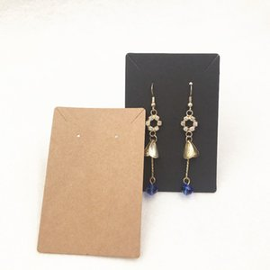 24Pcs 9*6cm Blank kraft Simple Style Jewelry Packaging Card Used For Necklace&Earring&Stud Ear Paper Display Card