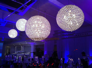 no light including )Bling acrylic crystal beaded ball hanging ceiling crystal ball for wedding hall and wedding stage backgroup decoration