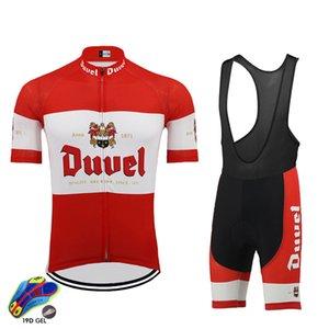 2020 cycling jersey conjunto DUVEL cerveja vermelha pro equipe de ciclismo roupas 19D gel pad respirável estrada de montanha desgaste bicicleta de corrida roupas