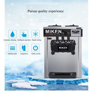 Máquina Crema pequeña Business Desktop Soft Ice CE Demostrar acero inoxidable fabricante de helado de 3 sabores