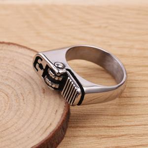 Enfriar nueva llegada del estilo cigarrillo del encendedor de pulido de plata plateado antorcha del anillo anillo de los hombres caliente más ligero fresco de la manera Anillo