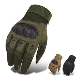 Men Tactical Gloves Shooting Vollfingerhandschuhe Outdoor Sports Radfahren Knöchelschutzhandschuhe Touchscreen Anti-Rutsch-Schutzhandschuh WWA203