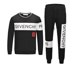 2019 Bester Verkauf Herbst Herren-Designer-Sportswear Jogger Normallack mit Kapuze Reißverschluss-Sweatshirt Strickjacke Männer loser Hosenanzug