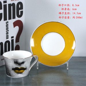 2019 Expresso Cup criativa de chá em cerâmica Chávena Pires Define Louisa presente de aniversário de casamento britânica