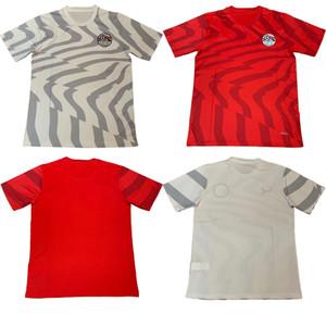 19 20 Camisolas do Egito para casa M. SALAH KAHRABA Ramadan ElNenny camisas de futebol de alta qualidade 2019 Egito camisa de futebol HEGAZI RED camisa de futebol