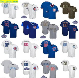 2016 World Series Champions patch Custom Co Cubs Mens Women Youth Customized Majestic 100% Stitched Baseball Jersey SIZE S-XXXL