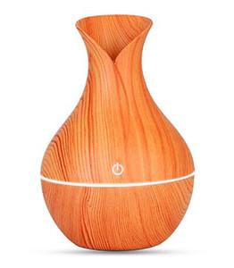 من الضروري المرطب رائحة الناشر النفط الخشب الحبوب بالموجات فوق الصوتية الخشب الهواء المرطب USB تبريد مصغرة صانع ضباب أضواء LED للالمكاتب المنزلية