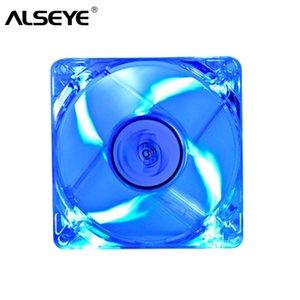 몰 렉스 4D 12V 2200RPM 8cm 투명 자동 냉각 팬 3 핀 ALSEYE의 80mm LED PC 팬 쿨러, 냉각 팬 팬