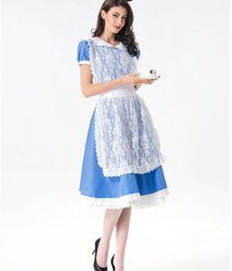 Costumi Le donne costume cosplay Anime Sissy domestica Uniforme partito del merletto Lolita Sweet Dress di Halloween per le donne Ragazze