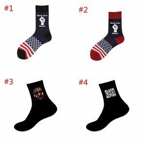 Black Lives Matter Socks George Floyd Black Lives Nutte Unisexe Adulte Chaussettes occasionnelles Basketball America Drapeau DHE3004