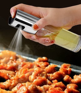 Küche Öl-Sprüher Pot Edelstahl Olive Herr Öl Spray Pump Feine Glasflasche Kochen Braten Backen Ölflasche Werkzeuge für Pasta FFA3088