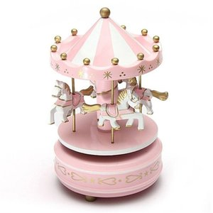 Merry-Go-Round Wooden Music Box Toy Child Baby Game Home Decor Carousel horse Music Box Christmas Wedding Birthday Gift Hot
