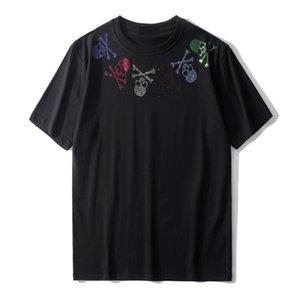 20ss Sommermens-Stylist-T-Shirts Art und Weise beiläufige Paare mit kurzen Ärmeln Qualitäts-Mann-Frauen Rhinestone-Schädel-T-Shirts Größe S-2XL