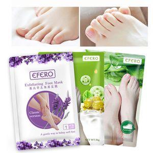 EFERO لافندر الألوة الزيتون القدم قناع إزالة الجلد المقشر الجوارب لباديكير الجوارب الطفل أقدام أقنعة لكريم الساقين