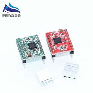 Freeshipping 50pcs ROBOT Reprap Stepper Driver A4988 스테퍼 모터 드라이버 모듈 Dropshipping color : red / green