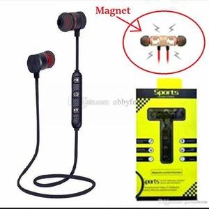 Bluetooth магнит наушника Металл Спорт Bluetooth гарнитура Bluetooth 4.2 стерео наушники M5 Водонепроницаемый Пот доказательство Запуск GYM Спорт наушники