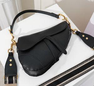 bolsa de moda bolsa nova letra bolsa de ombro de alta qualidade bolsa de couro crossbody luxo sela saco do desenhador das mulheres famosas com caixa