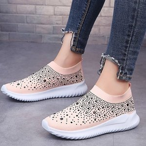 Plus Size 35-43 Women Shoes Casual Sneakers Woman Running Shoes Female Lightweight Mesh Slip On Sport Shoes Zapatos De Mujer