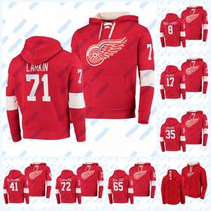 Jacket jersey Dylan Larkin Detroit Red asas Hoodie Albin Grewe Albert Johansson Robert Mastrosimone Antti Tuomisto Moritz Seider Athanasiou