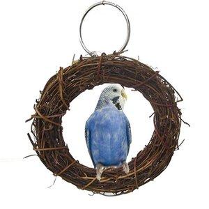 Oiseau d'animal familier perroquet Anneau permanent Perch Toy Pet Cage Balançoire Toy Accessoires Chew jouet pour Parrot oiseaux