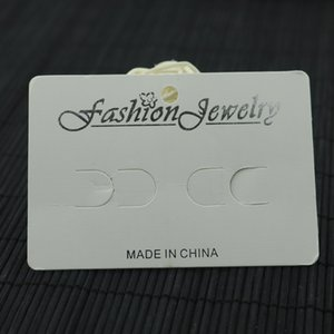 Wholesale 100pcs 7*10cm white DIY Simple hair clip display card women barrette products package card can customized logo
