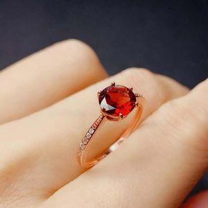 Doğal Ve Gerçek Garnet Yüzük 925 Takı Garnet Yüzük Kadın Fine Jewelry, Noel Hediye taşlar ile