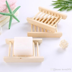 50pcs Natural Wooden Soap Tray Holder Soap Dishes Soap Rack Plate Container Shower Bathroom Accessories