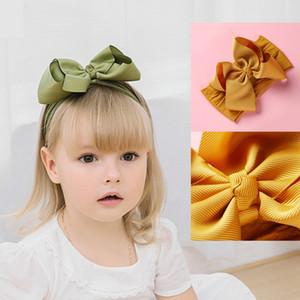Grande arco Headwrap della fascia del bambino Top Knot fasce sovradimensionata Nastro per capelli Turbante Newborn capo Fascia della ragazza grandi fiocchi di capelli