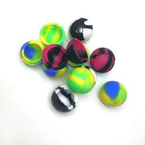 Hot Nonstick Wachsbehälter Kugel Silikon Food Grade Gläser Dab Werkzeug Jar Wachs-Behälter für das Wachs Bho Öl-Mischfarbe 32mm 5ml