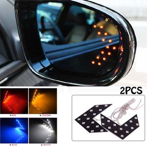 2 Pcs lot 14 SMD LED Arrow Panel For Car Rear View Mirror Indicator Turn Signal Light Car LED Rearview mirror light