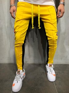 Men S Designer Pants Muscle Brothers Color Matching Hip hop Small Feet Men's Tether Casual Sweatpants