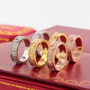 Личность Полный Rhinestone Пара Кольца 18 К Розовое Золото Обручальные Кольца для Невесты Хип-Хоп Кольца Высокого Качества