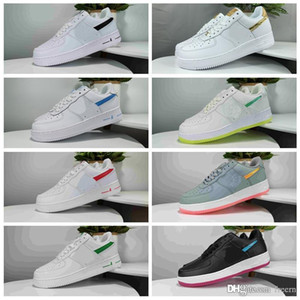 Nike Air Force 1 Low help 2020 Forces 1 Hommes Femmes Chaussures Low Cut Un Blanc Noir DUNK Chaussures skate-board classique AF Fly Designer Knit Air Sneakers Casual